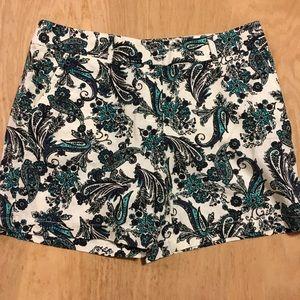 Ann Taylor loft linen floral shorts 10 high rise